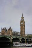 House of Parlament and Westminster Bridge Stock Photo