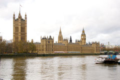 House of Parliament. From the River Thames, London, England Stock Photos