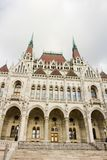 The house of Parliament -partial side view, Budapest. The house of Parliament; an architectural jewel, Budapest, Hungary on a sunny day Stock Photos