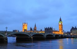 House of Parliament and Big Ben. House of Parliament with Big Ben and Westminsiter bridge in London Stock Images