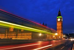 House of Parliament and Big Ben. House of Parliament with Big Ben and Westminsiter bridge in London Stock Photos