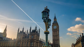 The House of Parliament and the Big Ben in London before sunset Royalty Free Stock Photo