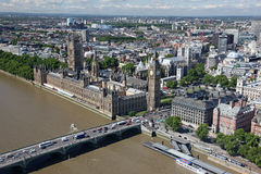House of Parliament with Big Ben tower with Thames river Stock Photo
