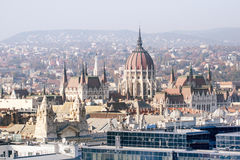 House of Parliament in Budapest. Airview. Stock Image