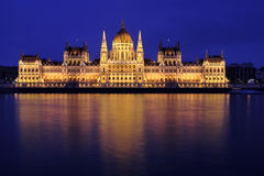 House of the Parliament. The building of the Hungarian Parliament Országház - House of the Nation, in Hungarian is one of the major landmarks of Budapest royalty free stock image