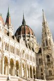 The house of Parliament -detailed view, Budapest. The house of Parliament; an architectural jewel, Budapest, Hungary on a sunny day Stock Image