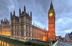 House of Parliament, dusk, London, England Stock Photo