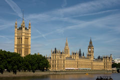 House of Parliament, London. House of Parliament and Big Ben towering over the Wesminster Hall Royalty Free Stock Images