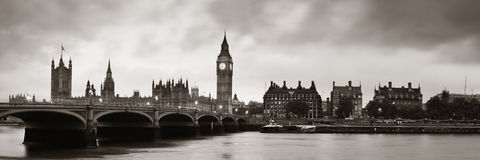 House of Parliament. Panorama in Westminster in London Royalty Free Stock Photography