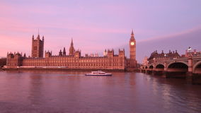 House of Parliament and Thames in London Royalty Free Stock Image