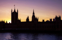 House of Parliament. View on House of Parliament and river Thames Stock Images