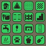 House part complete set icon and pictogram BASIC S Royalty Free Stock Photography