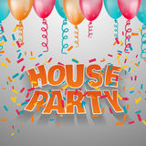 House party card invitation. Stock Image