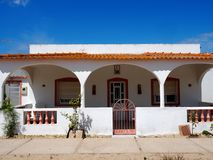 House With Patio On Ilha De Culatra Portugal stock image