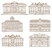 House pattern set Royalty Free Stock Photos