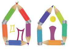 House pencil Stock Images