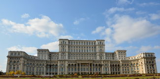 House of the people. This building is located in Bucharest, Romania stock image