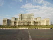 House of the People. Casa Poporului, home of the parliament and central government of Romania, Bucharest stock images
