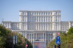 House of the people. In bucharest romania stock photography