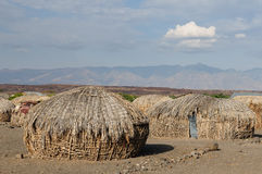 House of people from the Turkana tribe Stock Image