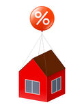 House and percent Royalty Free Stock Photography