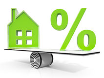 House And Percent Sign Meaning Investment Stock Images