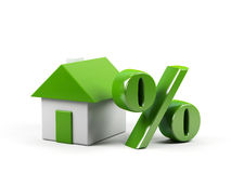 House and percent symbol. Stock Image