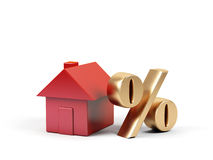 House and percent symbol. Royalty Free Stock Photo