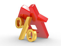House and percent symbol Royalty Free Stock Image