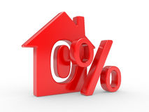 House and percent symbol Stock Image