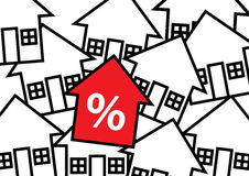 House Percentage Stock Photography