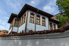 House from the period of Bulgarian Revival in old town of Plovdiv Stock Image