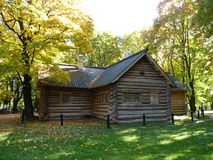 The house of Peter The Great. The wooden house of Peter The Great in Kolomenskoye Museum-estate, Moscow, Russia Stock Photography