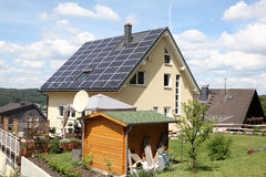 House with photovoltaic panels Royalty Free Stock Image