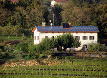 House with photovoltaic panels Stock Images