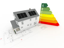 House with photovoltaic panels Stock Image