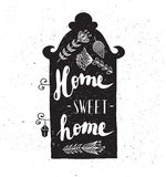House with phrase sweet home. Royalty Free Stock Images