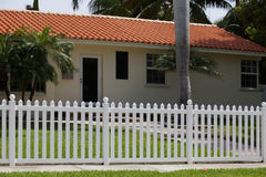 House with a picket fence Royalty Free Stock Photography