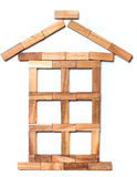House of pieces of wood. Royalty Free Stock Image
