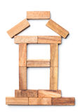 House of pieces of wood. Royalty Free Stock Images