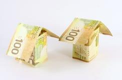house pieniądze Zdjęcia Royalty Free