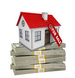 House on pile of money Stock Photography