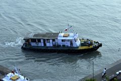 House and Pilot Boat Stock Photos