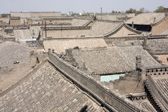 The house in Pingyao,china. View over the Ancient village of Pingyao,Shanxi,China royalty free stock photos