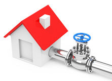 The house pipeline Royalty Free Stock Photography