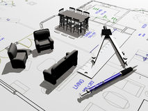 House plan Royalty Free Stock Image