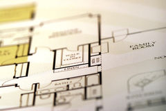 House plan. Blueprints of a brand new house Stock Images