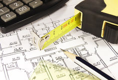 House plan Stock Photography