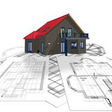 House and plan Stock Photos