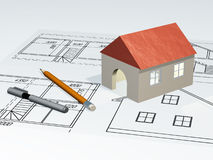 House at plan Royalty Free Stock Image